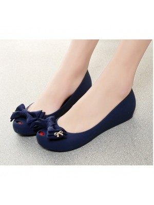 Women Summer Sandals Casual flats Ribbon Jelly Shoes