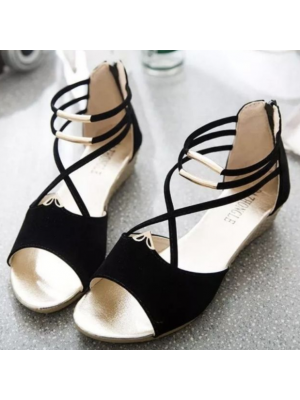 Casual Women Lady Shoes (BLACK) (#8162)