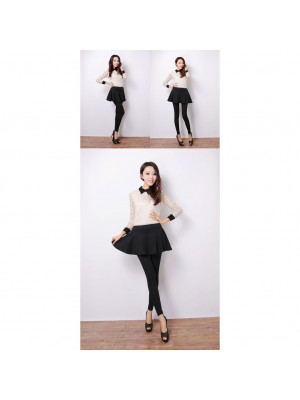 READY STOCK FLARE SLIM (Small Cutting) Korean 2 in 1  Pleated Skirt Legging
