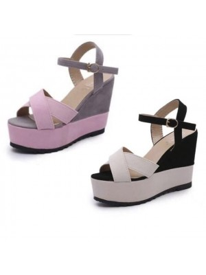 LOCAL READY STOCK DUO TRENDY HIGH HEELS SHOES Wedges (# A681)