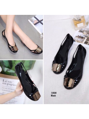 New Arrival Jelly Shoes OL Women Lady Casual (# Metal Shoes)