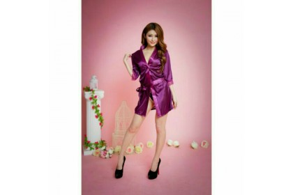 *SmartChoice*ReadyStock SHIP FAST *Women's Ice Silk Robe Sexy Lingerie - Small Size