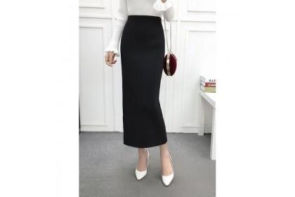 *SmartChoice*ReadyStock Women Skirt Knitting Look Slim High Waist Elastic Pencil Midi