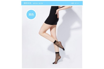 *SmartChoice*ReadyStock Women Silk Stockings Ankle Ultra-Thin Elastic Silky Short Silk Stockings