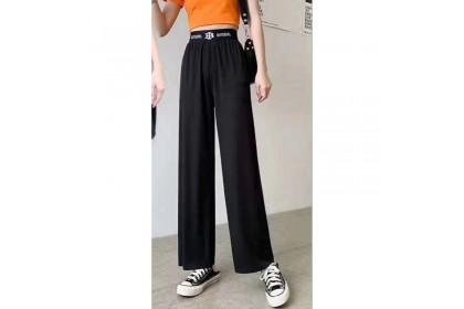 Japan Station Summer new women's high-waisted wide-leg pants drape thin mopping pants cold silk straight casual pants